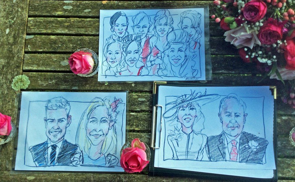 Wedding group drawings