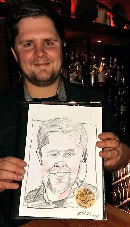 Manager of the bar.Loved his caricature