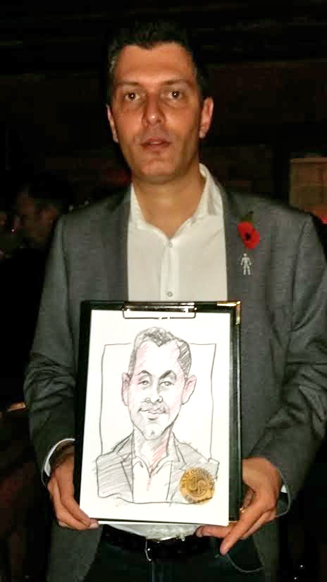 Drew lots of caricatures in a very short time. A great idea for a party.