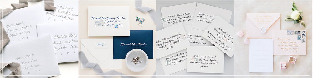 Dreams and Nostalgia_Envelope Calligraphy_Wedding Calligrapher