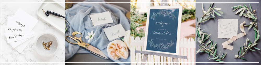 Dreams & Nostalgia_Wedding Calligrapher_Calligraphy Signage_Calligraphy Place Cards