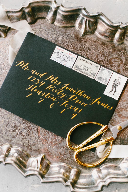Gold Envelope Calligraphy_Dreams and Nostalgia_Houston Calligrapher_FireShootByBreannaMcKendrick-008.jpg