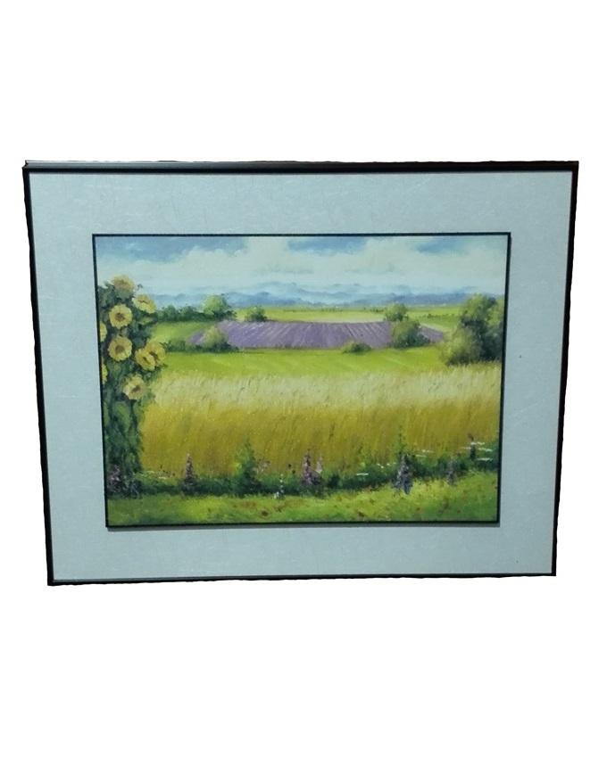 hibiscus oil wood painting - 49 x 39cm   n8,000