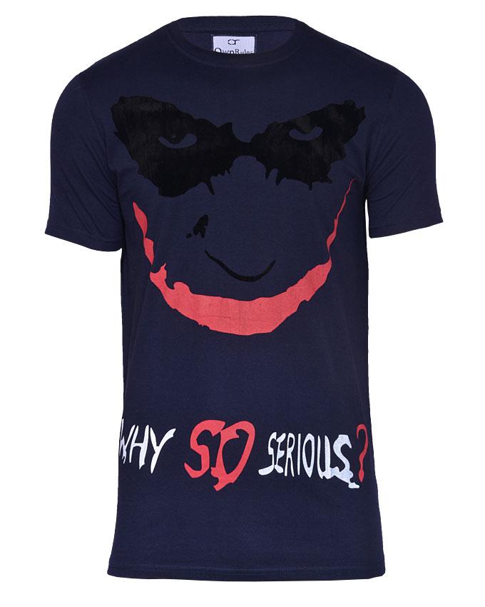 joker tshirt with suede mask - s   n3,000