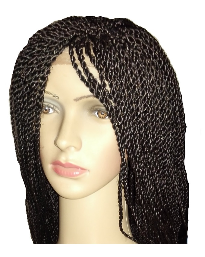 "mya twist lace front synthetic wig - 26"" #2   n21,500"