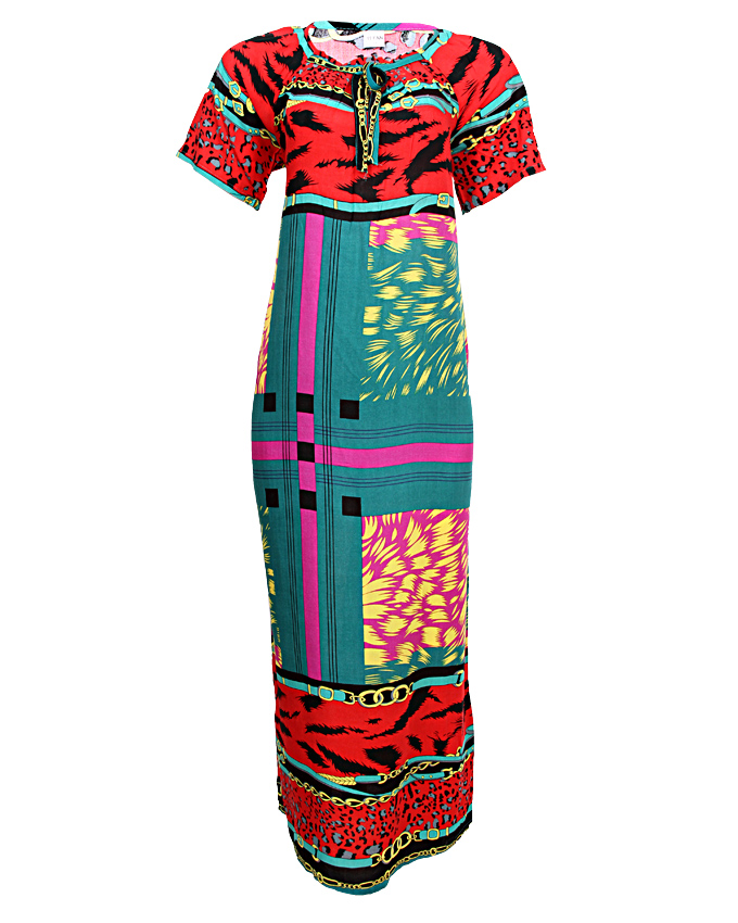 capri maxi dress - purple sizes 18-20   n3,500