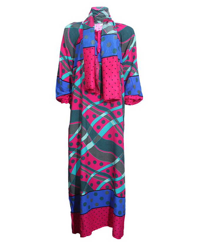 debden maxi dress w/scarf - purple sizes 14-20   n4,600