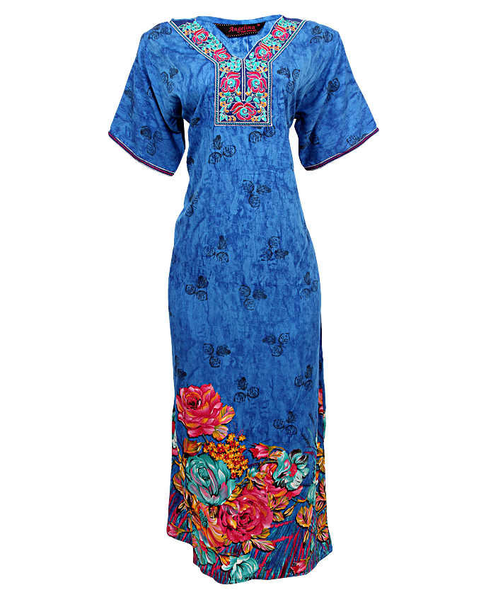 forest gate maxi dress - blue  sizes 18, 22   n3,900