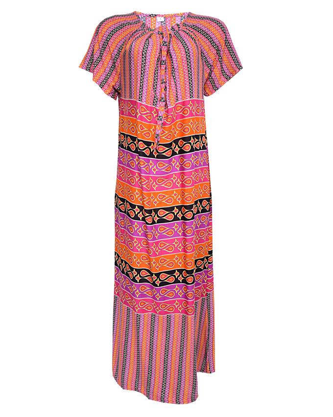 hackney maxi dress - orange sizes 14, 16, 20   n3,500