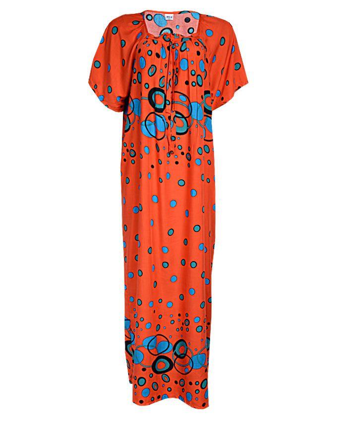 muscat maxi dress - orange sizes 20   n3,500