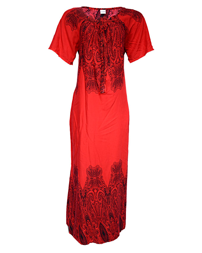 mayfair maxi dress with coral print - red  sizes 18   n3,500
