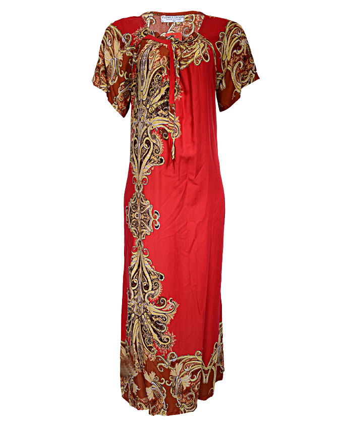 neasden maxi dress with side gold detail - red  sizes 18, 20   n3,500