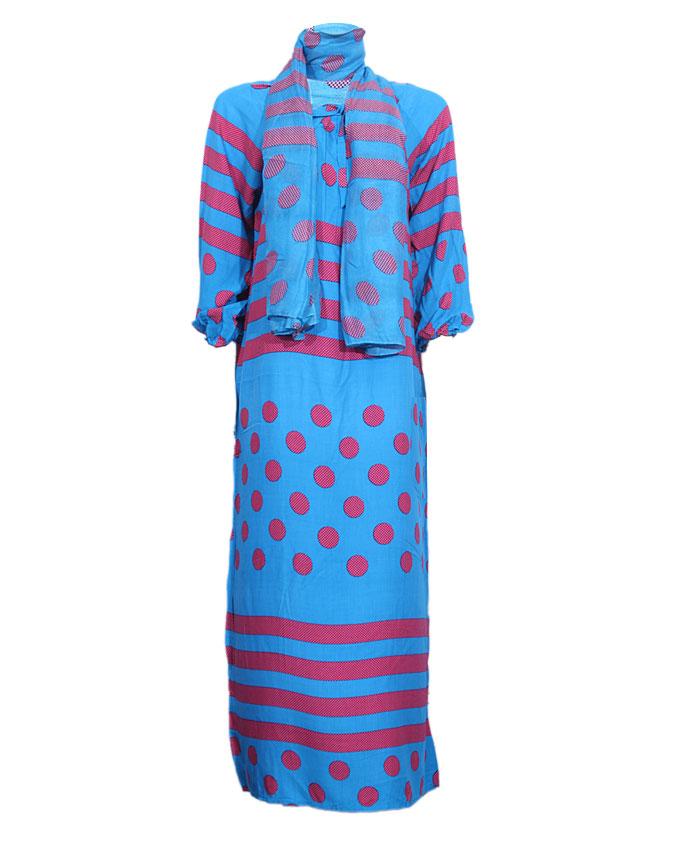 preston maxi dress with illusion bubble print - blue sizes 14, 16, 20   n4,000