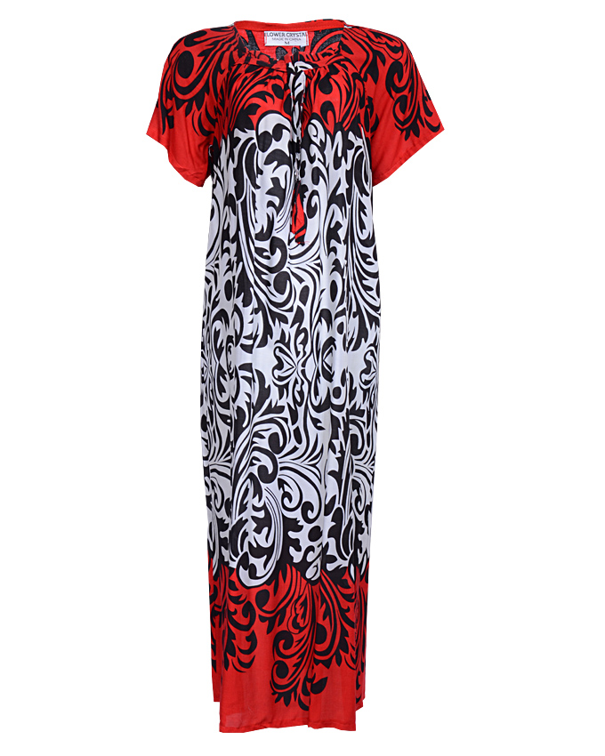 venetian maxi dress with black and white mid-section - sizes 18 - 20   n3,500