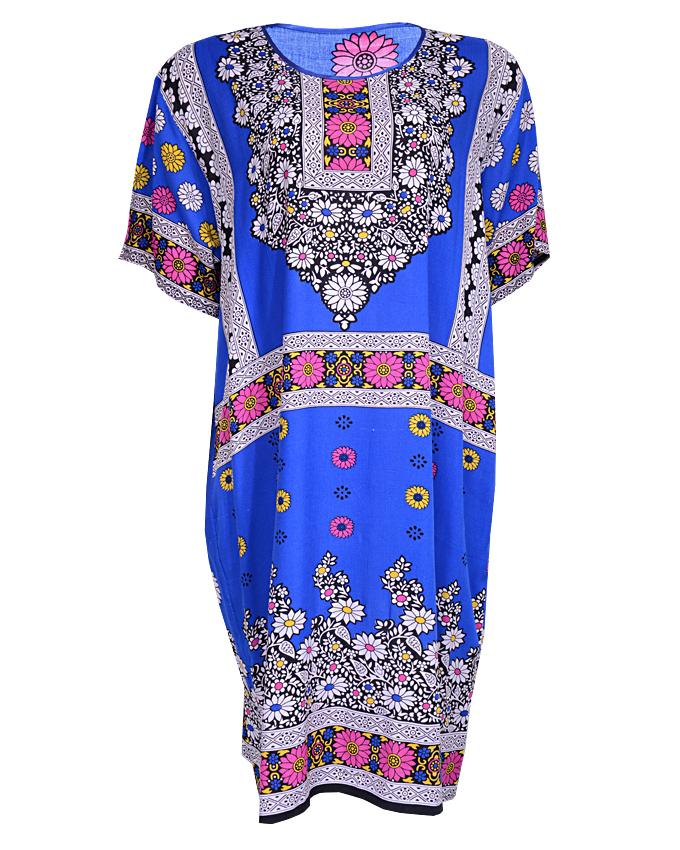 WHETSTONE MINI DRESS WITH FERN PRINT - BLUE SIZES ONE SIZE   N4,500