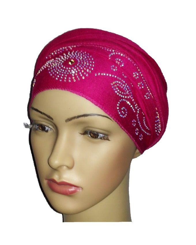new    regal turban with CIRCLE STUDS - HOT PINK   n5,800