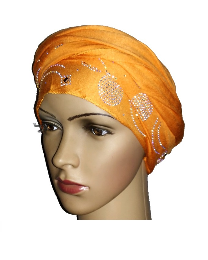 new    regal turban with wave & CIRCLE - orange   n5,800  ( SOLD OUT)