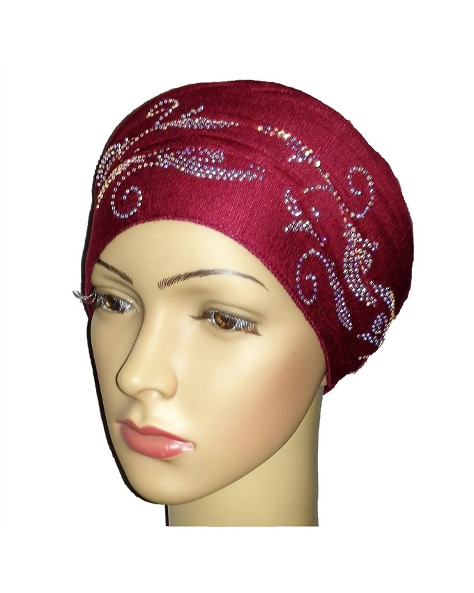 new    regal turban with bajan waves - burgundy   n5,800