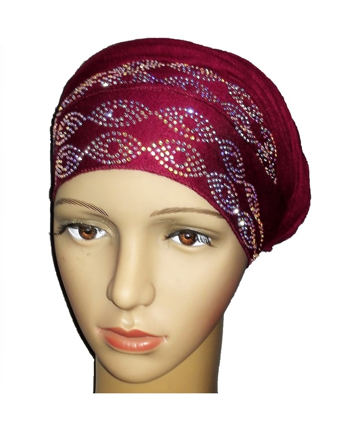 new    regal turban with ring design - burgundy   n5,800