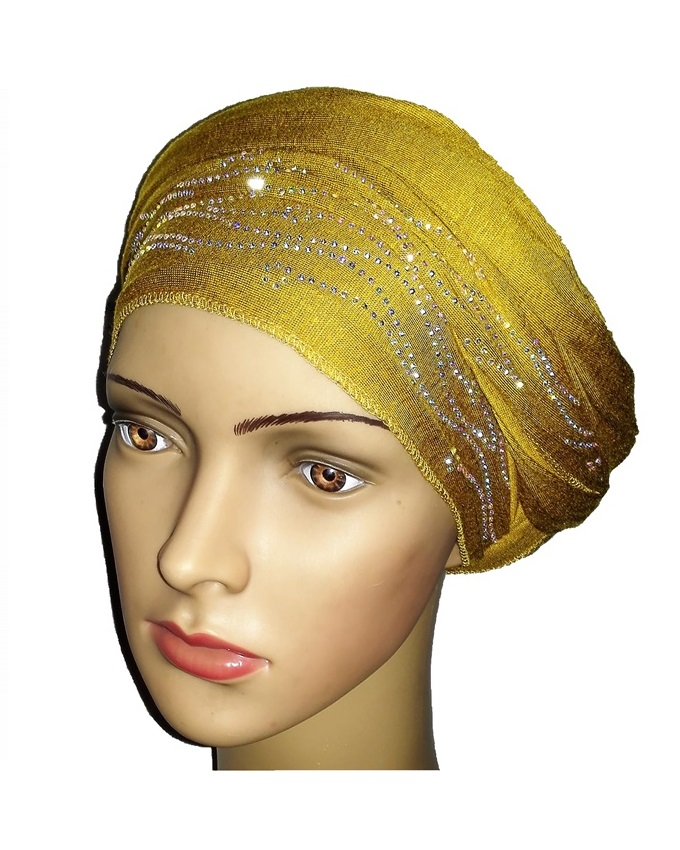 new    regal turban with sea waves- mustard   n5,800