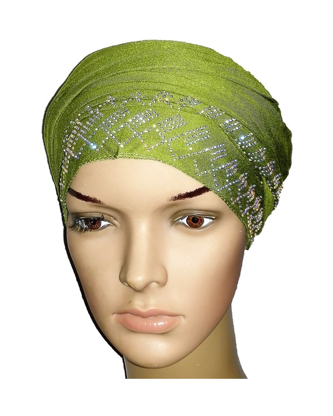 new    regal turban with diamond design- lime green   n5,800