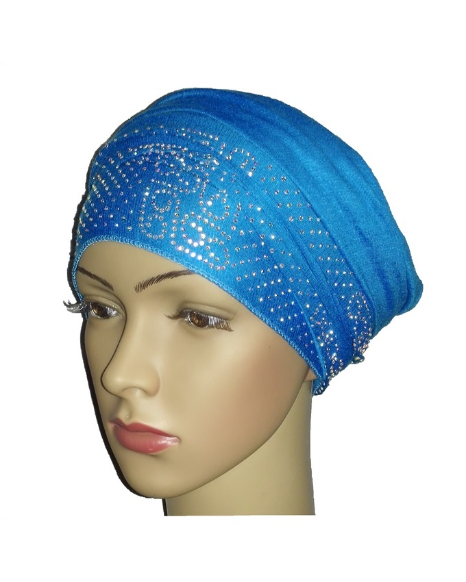 new    regal turban with venn design- turquoise   n5,800