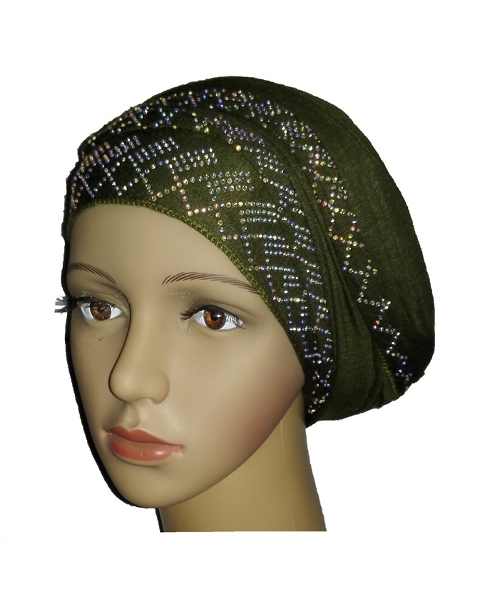 new    regal turban with diamond design- olive green   n5,800