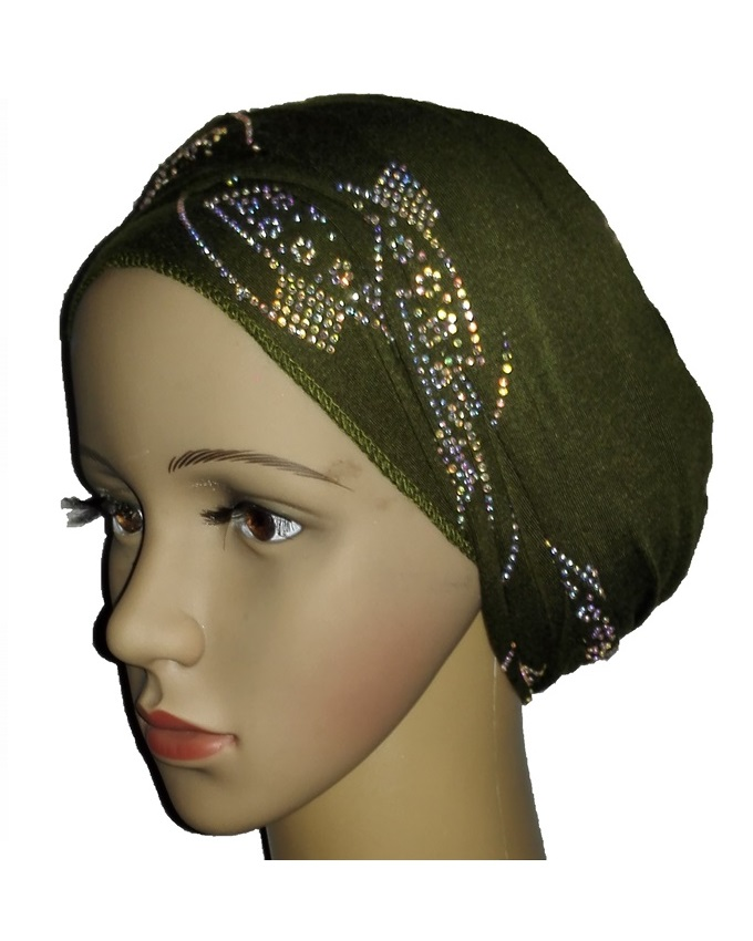 new    regal turban with orbital print- olive green   n5,800