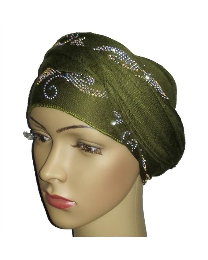 new    regal turban bajan wave design- olive green   n5,800