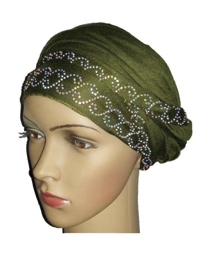 new    regal turban chain link design- olive green   n5,800