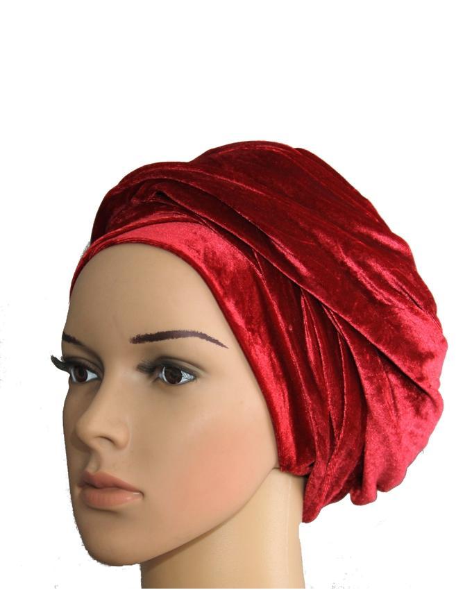 VELVET TURBAN - RED   N3,500