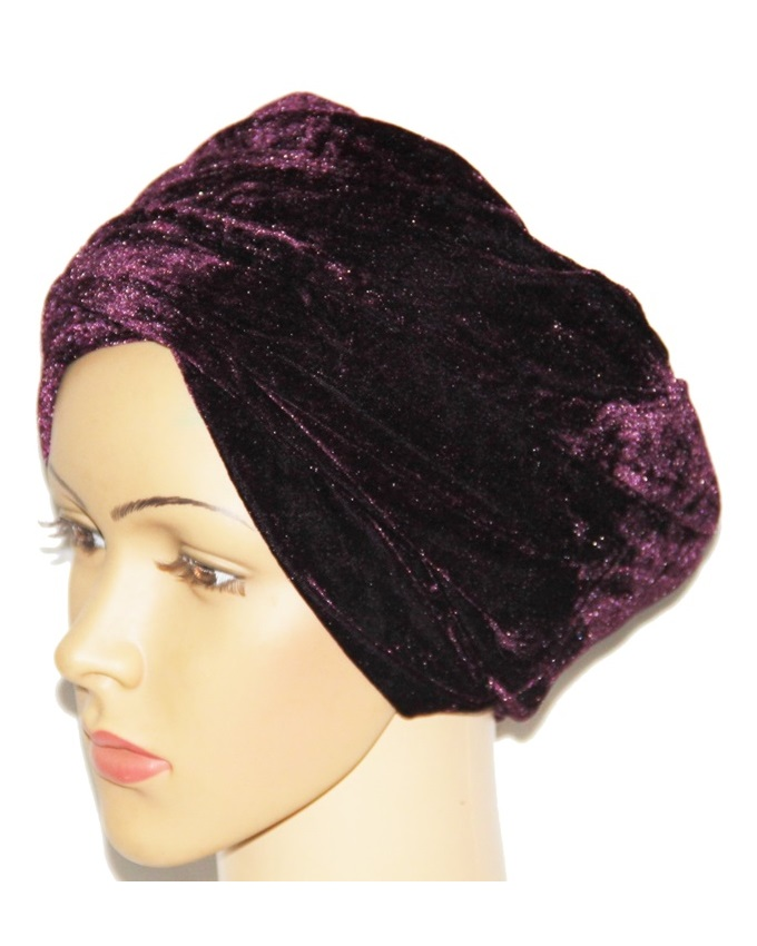 VELVET TURBAN - PURPLE   N3,500