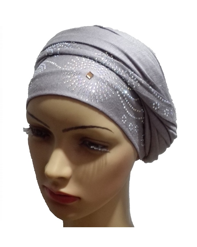 new    regal studded turban circle studs - grey   n5,800