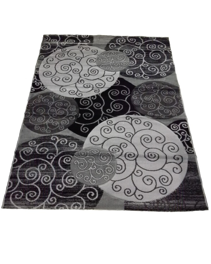 swirl and circle design rug - grey   80 x 150 cm - sold out  120 x 170 cm - sold out  150 x 220 cm - n40,000