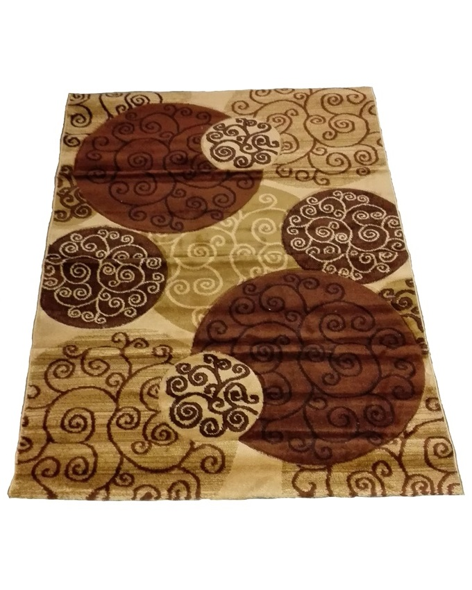 swirl and circle design rug - beige   80 x 150 cm  -   N22,000  120 x 170cm -    n29,000  150 x 220cm -   n40,000