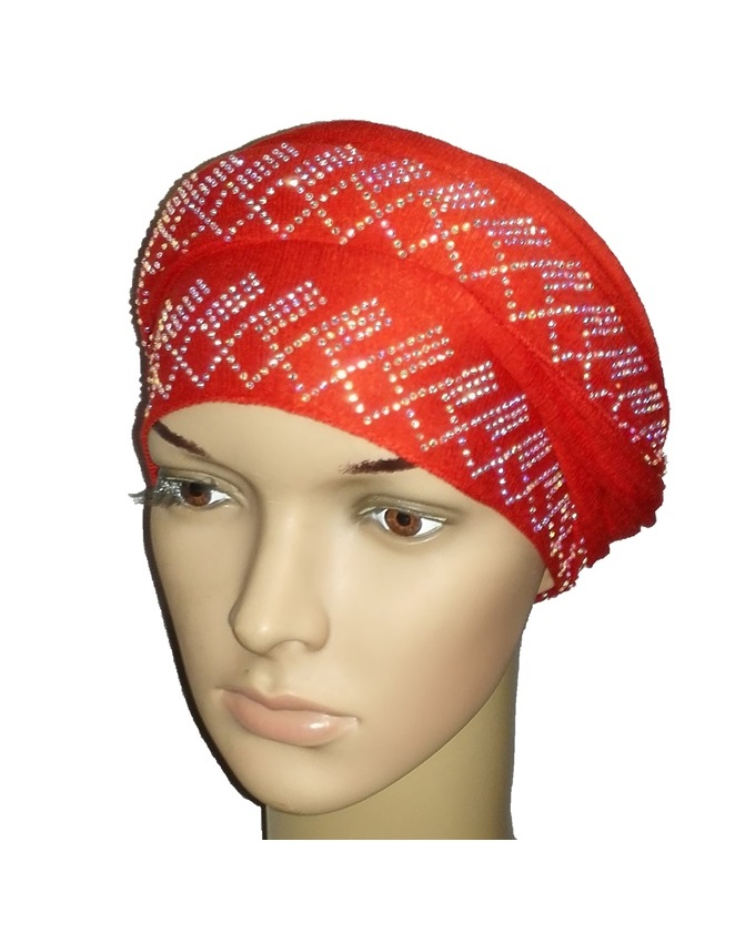 new    regal turban diamond design - mali red   n5,800