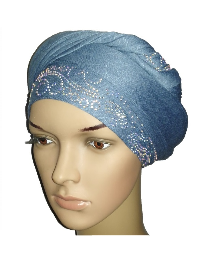 new    regal turban lake wave design - baby blue   n5,800