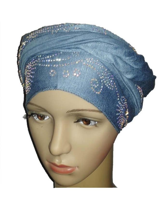 new    regal turban circle studs - baby blue   n5,800