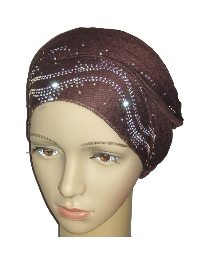 new    regal turban ocean wave - coffee brown   n5,800