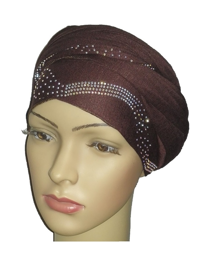 new    regal turban centric print - coffee brown   n5,800
