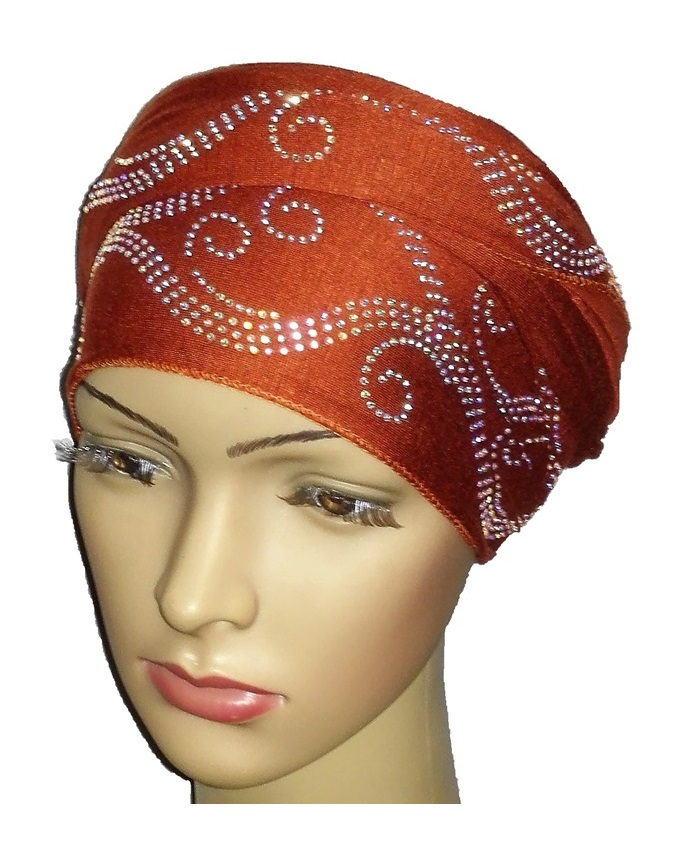 new    regal turban bajan wave design - mocha brown   n5,800