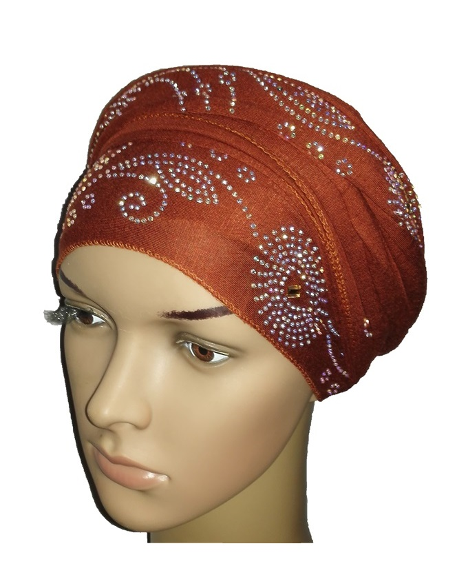 new    regal turban circle studs - mocha brown   n5,800