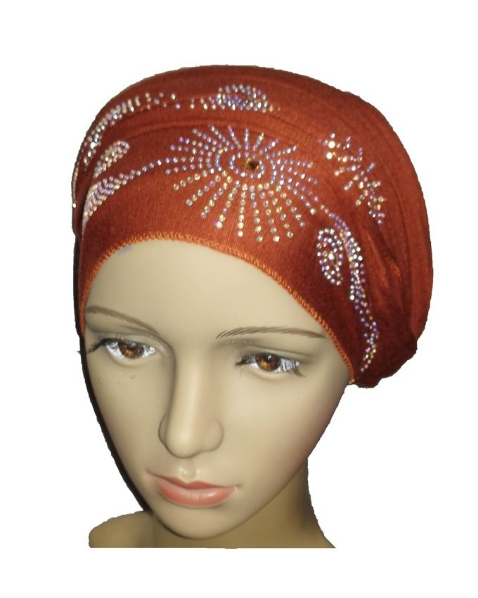 new    regal turban sun circle studs - mocha brown   n5,800