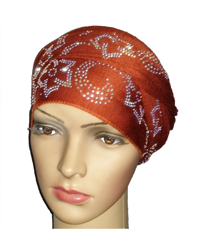 new    regal turban petal & circle  - mocha brown   n5,800
