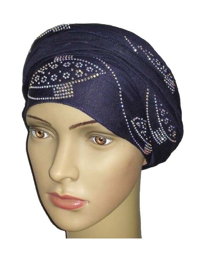 new    regal turban orbital print - navy blue   n5,800