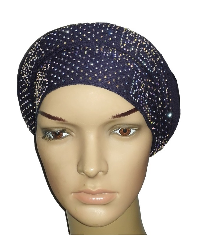new    regal turban vendla print - navy blue   n5,800