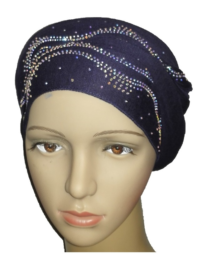 new    regal turban ocean wave - navy blue   n5,800