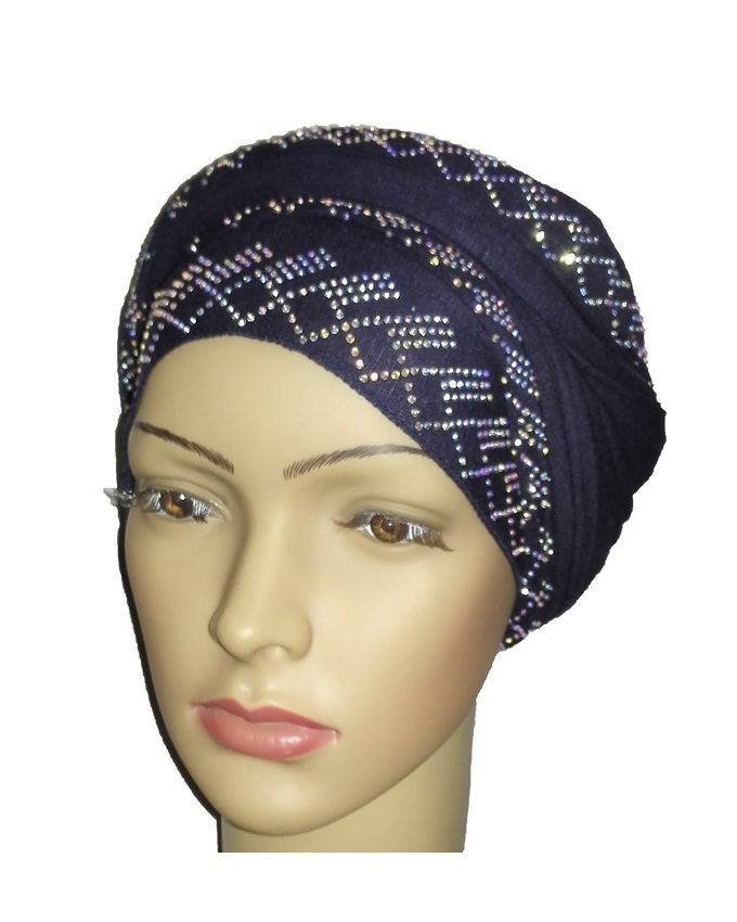 new    regal turban diamond design - navy blue   n5,800