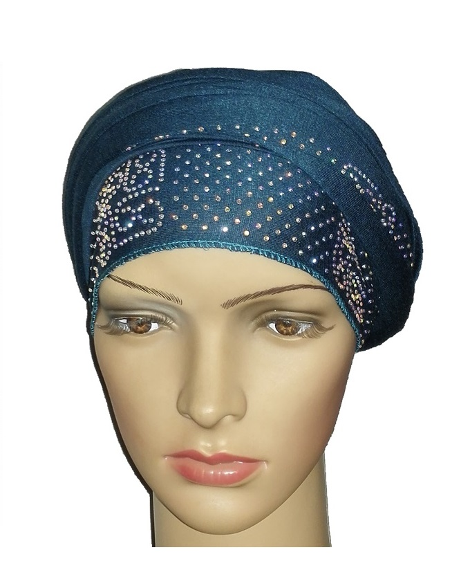 new    regal turban vendla print - dark teal   n5,800