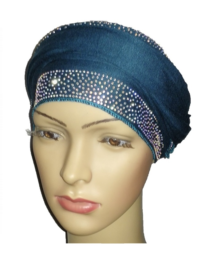 new    regal turban loaded stud design - dark teal   n5,800